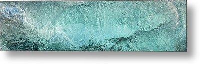 Ice Texture Panorama Metal Print by Andy Astbury