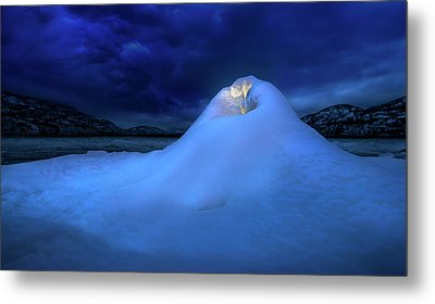 Ice Volcano Metal Print by John Poon