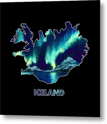 Iceland - Northern Lights - Aurora Hunters Metal Print by Anastasiya Malakhova