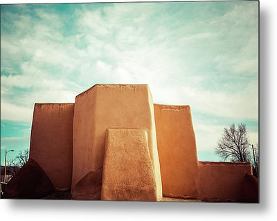 Iconic Church In Taos Metal Print by Marilyn Hunt