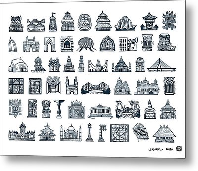 Icons Of Indian Architecture Metal Print