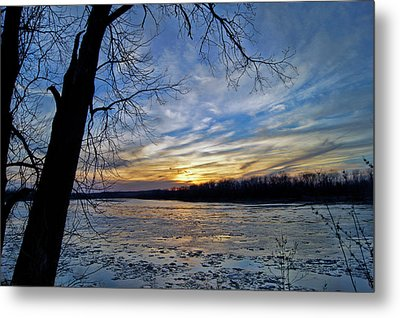 Metal Print featuring the photograph Icy River by Cricket Hackmann