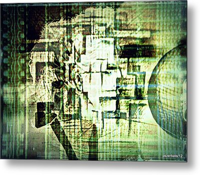 Identity In Uninterrupted Mutation Metal Print by Paulo Zerbato