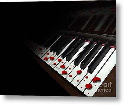 If Music Be The Food Of Love... Play On Metal Print