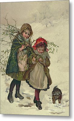 Illustration From Christmas Tree Fairy Metal Print