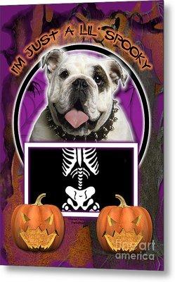 I'm Just A Lil' Spooky Bulldog Metal Print by Renae Laughner