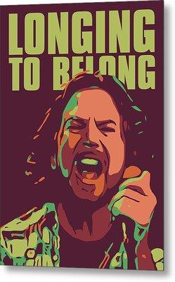 Eddie Vedder Metal Print by Greatom London