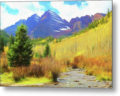 Metal Print featuring the photograph Impression, Maroon Bells by Eric Glaser
