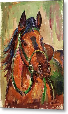Impressionist Horse Metal Print by Janet Garcia