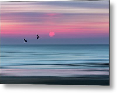 Impressionistic Sunset At Widemouth Bay, Bude, Cornwall, Uk.  Metal Print