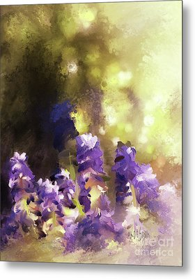 Metal Print featuring the digital art Impressions Of Muscari by Lois Bryan