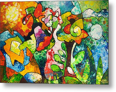 In Bloom Metal Print by Sally Trace