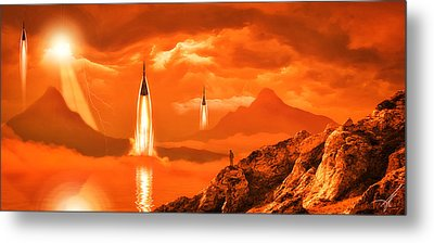 Metal Print featuring the photograph In Defense Of The Orange Planet by Anthony Citro