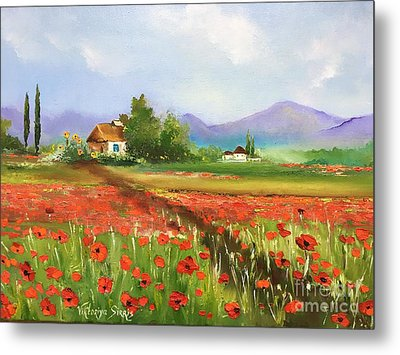In Love With Toscana's Poppies Metal Print by Viktoriya Sirris