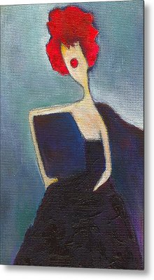 In My Evening Dress Metal Print by Ricky Sencion