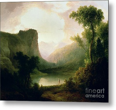 In Nature's Wonderland Metal Print by Thomas Doughty