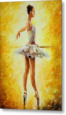 In The Ballet Class Metal Print by Leonid Afremov