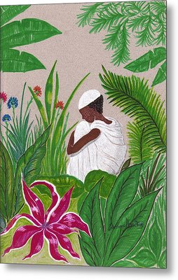 In The Garden Metal Print by Bee Jay