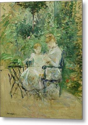 In The Garden Metal Print by Berthe Morisot