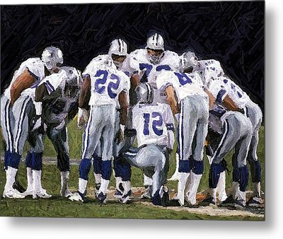 In The Huddle Metal Print