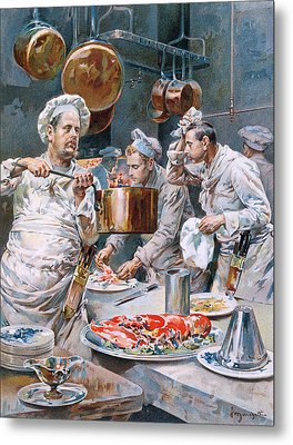 In The Kitchen Metal Print by G Marchetti