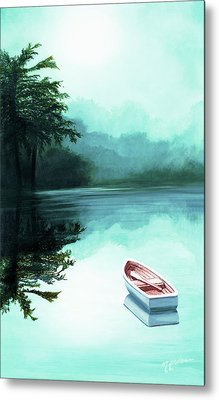In The Morning Mist - Prints From My Original Oil Painting Metal Print