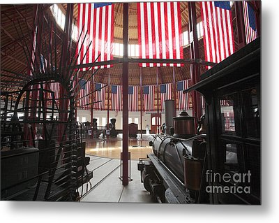 In The Roundhouse At The B And O Railroad Museum In Baltimore Metal Print by William Kuta