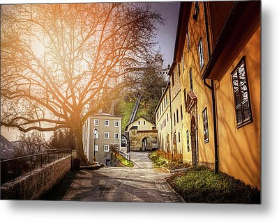 Metal Print featuring the photograph In The Shadow Of Salzburg Castle  by Carol Japp