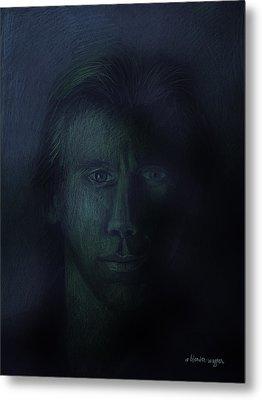 In The Shadows Of Despair Metal Print by Arline Wagner