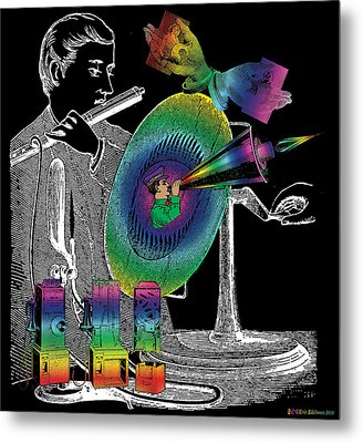 In The Spirit Of Communication Metal Print by Eric Edelman