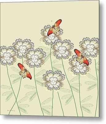 Incendia Flower Garden Metal Print by Rosalie Scanlon