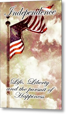 Independence Day Usa Metal Print by Phill Petrovic