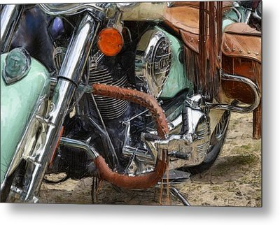 Indian Chief Vintage Ll Metal Print by Michelle Calkins