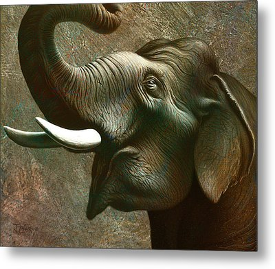 Indian Elephant 2 Metal Print by Jerry LoFaro