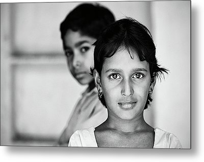 Metal Print featuring the photograph Indian Eyes by Stefan Nielsen