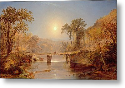 Indian Summer On The Delaware River Metal Print by Jasper Francis Cropsey
