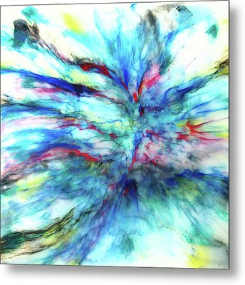 Metal Print featuring the mixed media Influx by Tom Druin