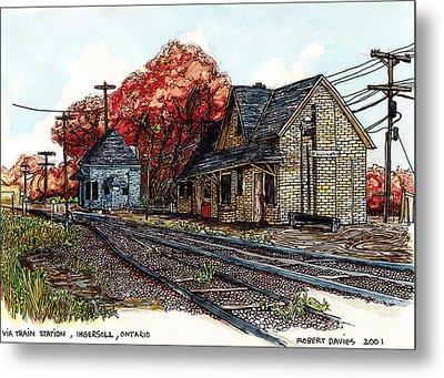 Ingersoll Train Station Metal Print