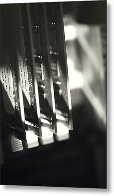 Metal Print featuring the photograph Inside A Computer Abstract Series - 3 by Trish Mistric