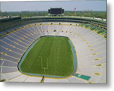 Metal Print featuring the photograph Inside Lambeau Field by Joel Witmeyer