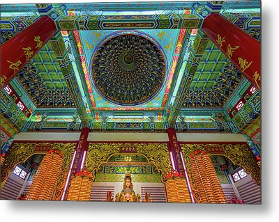 Inside Thean Hou Temple Metal Print by David Gn