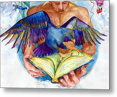 Inspiration Spreads Its Wings Metal Print by Melinda Dare Benfield