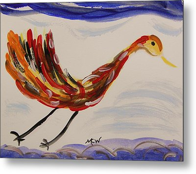 Inspired By Calder's Only Only Bird Metal Print by Mary Carol Williams