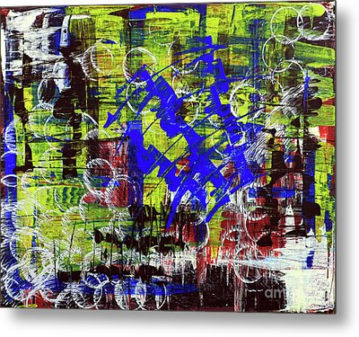 Metal Print featuring the painting Intensity by Cathy Beharriell