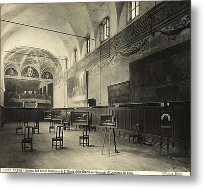 Interior Of The Dining Hall Of The Church Of Santa Maria Delle Grazie Milan Metal Print