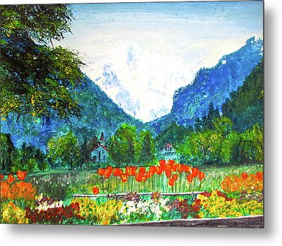 Metal Print featuring the painting Interlaken by Beth Saffer
