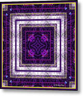 Metal Print featuring the photograph Into Purple by Barbara MacPhail