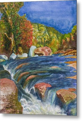 Into Slide Rock Metal Print by Eric Samuelson