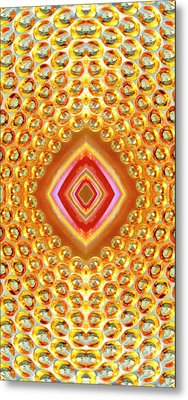 Metal Print featuring the digital art Into The Centre - Vertical by Wendy Wilton