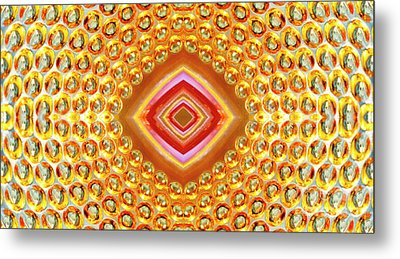 Metal Print featuring the digital art Into The Centre - Horizontal by Wendy Wilton